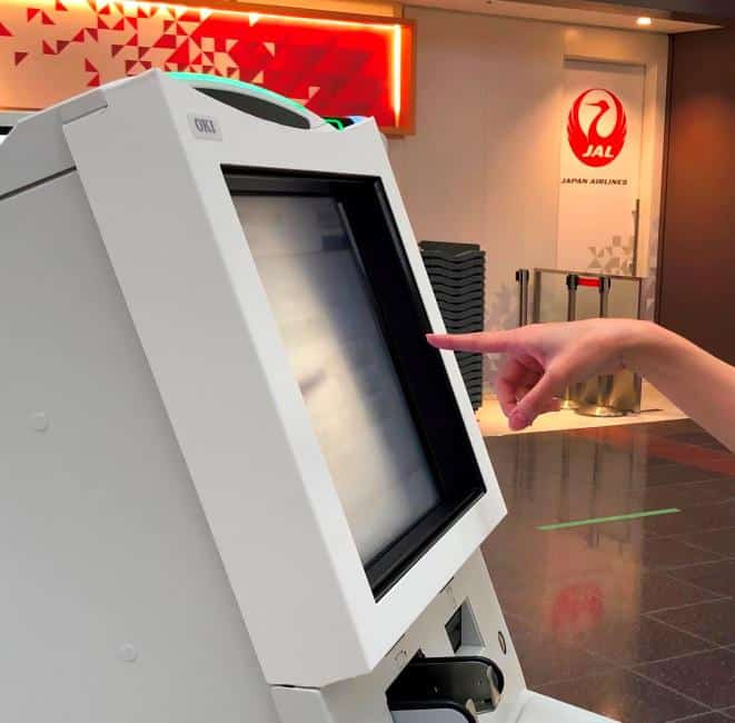 Japan Airlies' Touchless Check-in Kiosks