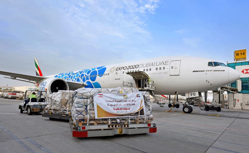 Emirates has already been supporting disaster relief efforts in Lebanon