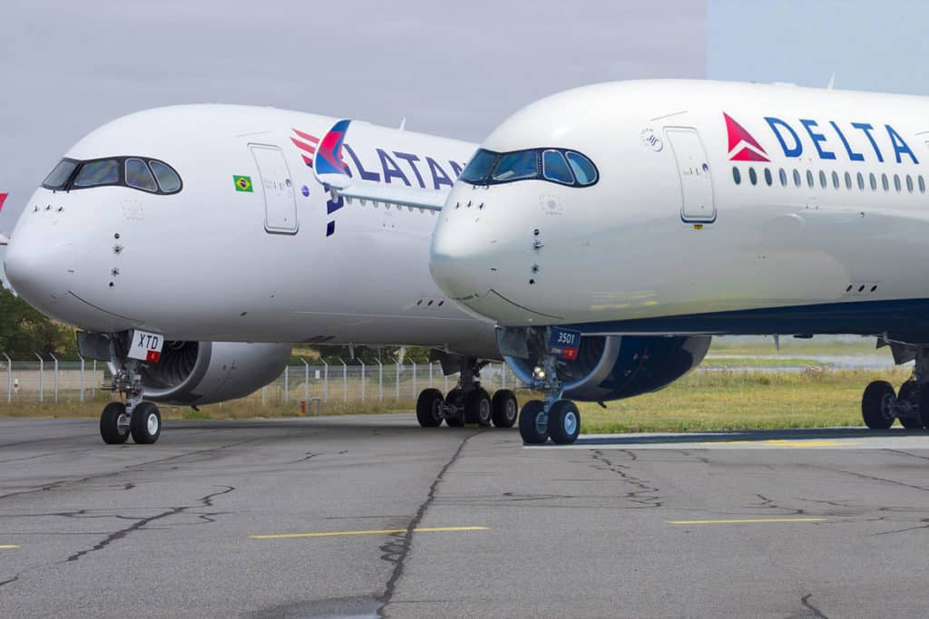 Delta Air Lines and LATAM Airbus A350s