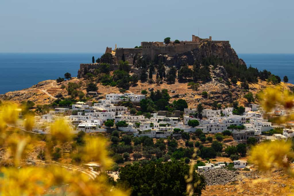 Historic town of Lindos on Rhodes, Greece