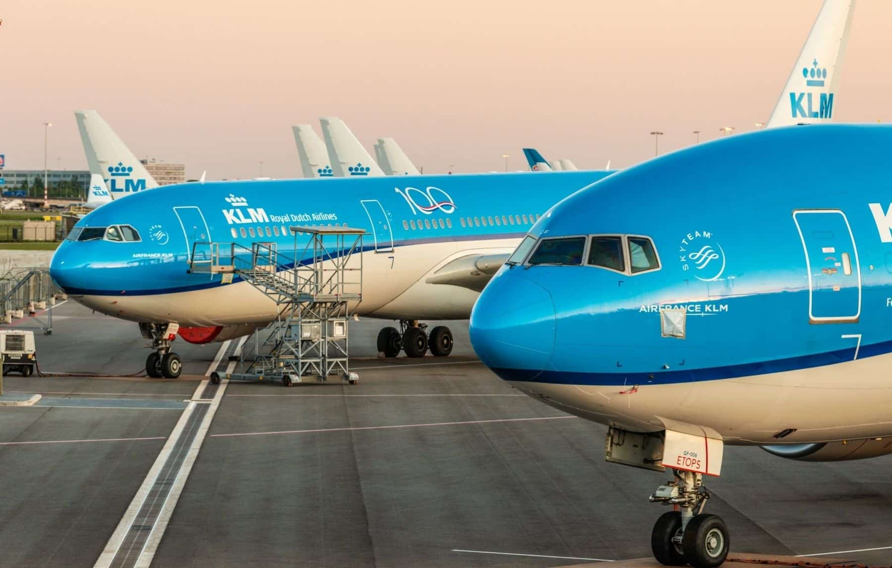 KLM Royal Dutch Airlines Airbus A330 and Boeing 777